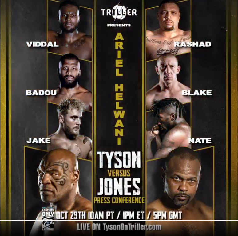 breaking press conference date for mike tyson vs roy jones jr announced essentiallysports mike tyson vs roy jones jr announced