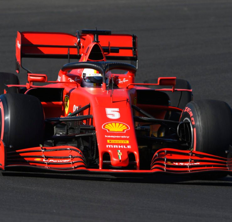 Sebastian Vettel during a practice session ahead of the Portuguese GP