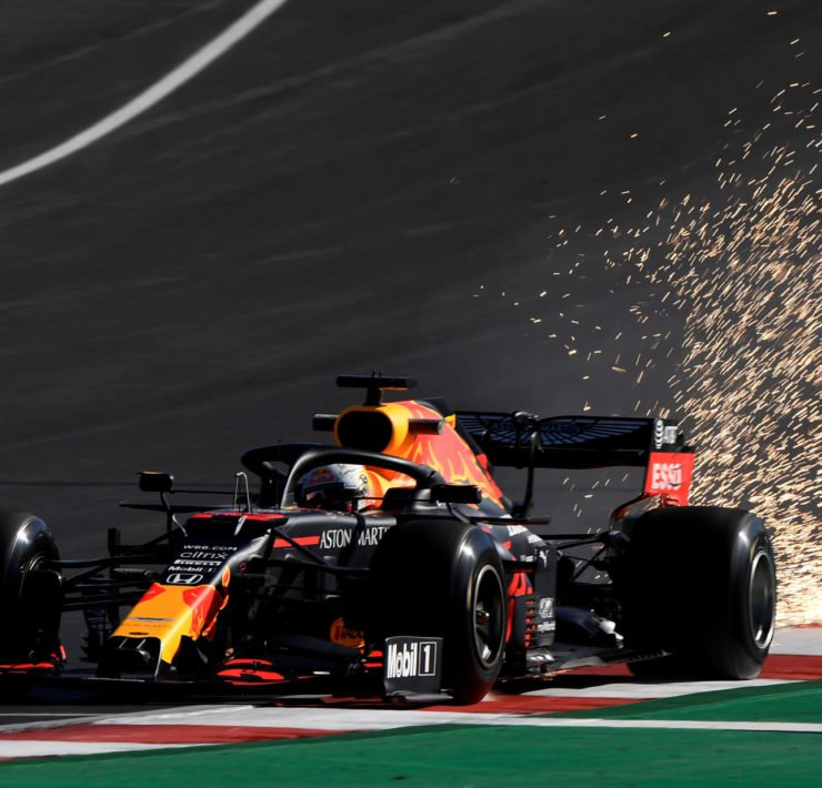 Red Bull driver Max Verstappen during practice at Portuguese Grand Prix 2020