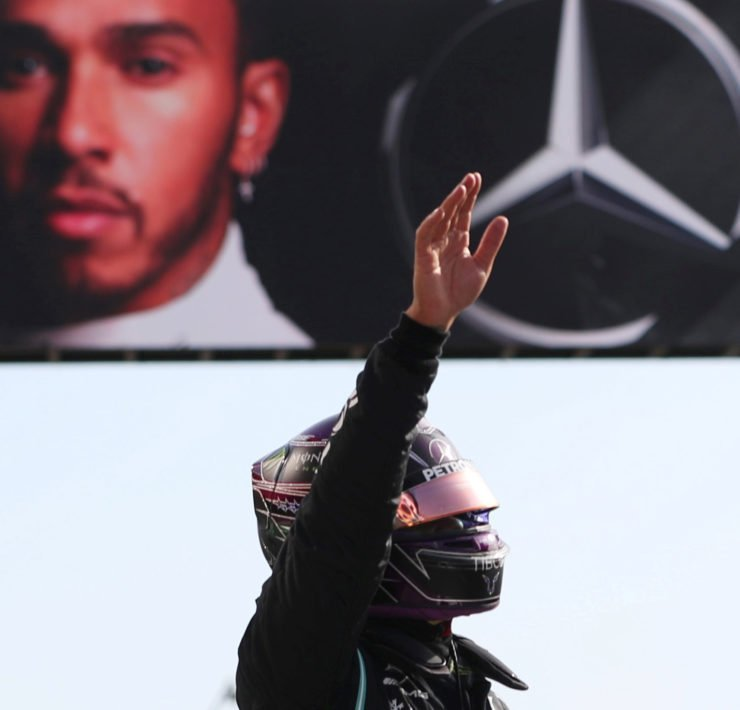 Mercedes' Lewis Hamilton denies holding back things for the last
