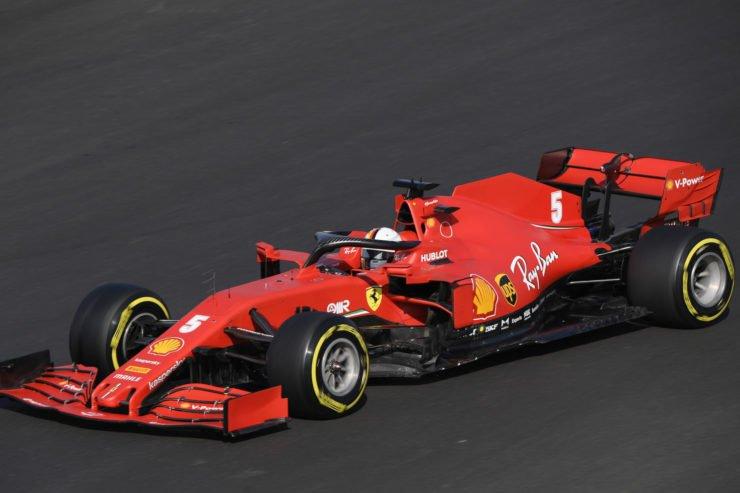 Ferrari's Sebastian Vettel in action during qualifying ahead of the race in Portugal