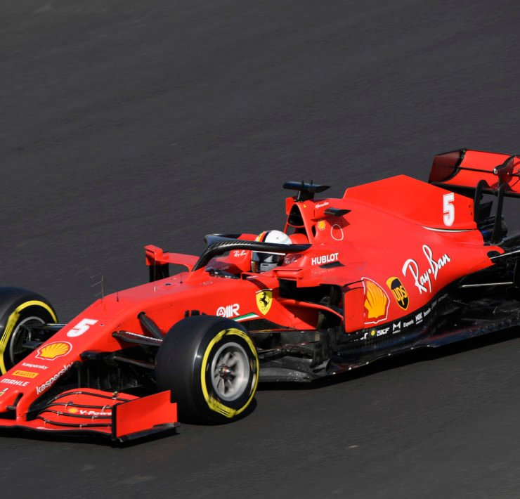Ferrari's Sebastian Vettel in action during qualifying ahead of the race in Portugal