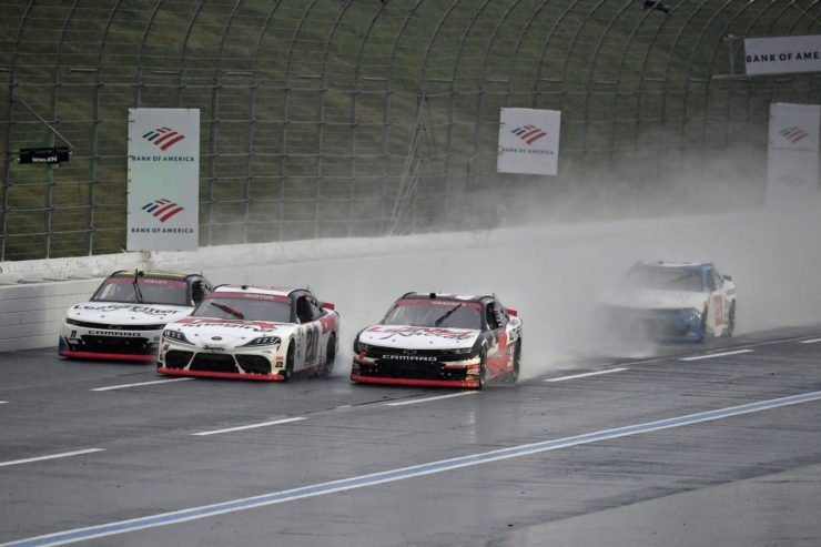 Harrison Burton and Noah Gragson in action in NASCAR Xfinity Series