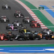 F1 cars in the Portuguese GP