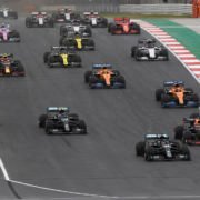 The first lap in the Portuguese GP
