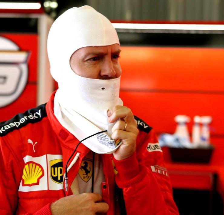 Sebastian Vettel prior to the Portuguese GP