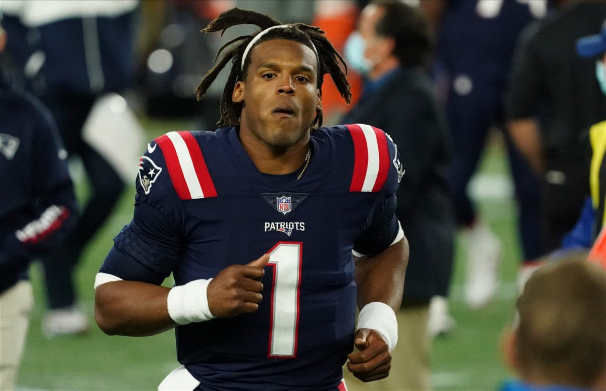 New England Patriots quarterback Cam Newton pictured against the San Francisco 49ers on Sunday.
