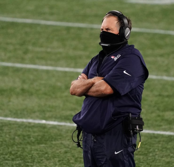 New England Patriots coach Bill Belichick pictured at the Gillette Stadium on Sunday.