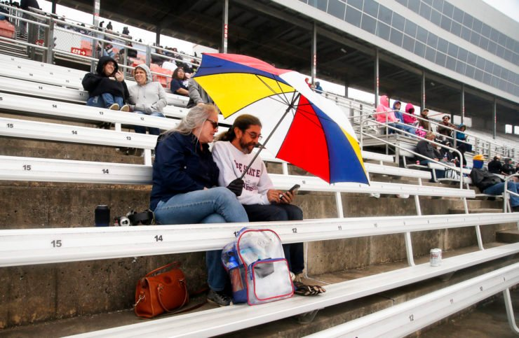 Fans in attendance during the NASCAR Cup Series race at Texas Motor Speedway