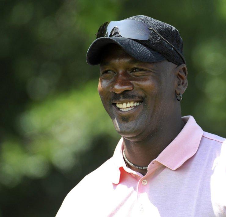 Michael Jordan during a PGA Tour