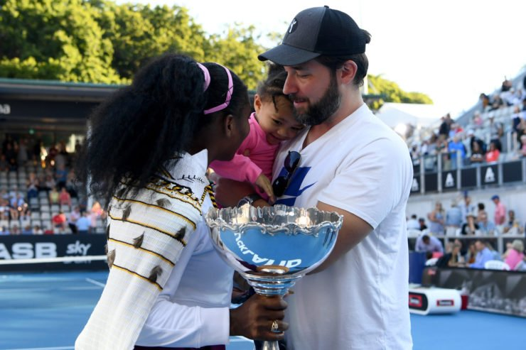 Serena Williams with husband Alexis Ohanian and daughter Olympia