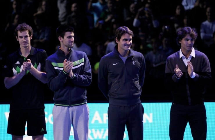 Big 4 - Andy Murray, Roger Federer, Rafael Nadal, Novak Djokovic at ATP World Tour Finals
