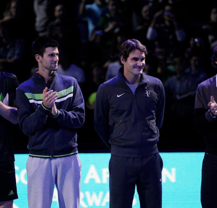 Big 4  -  Andy Murray,Roger Federer,Rafael Nadal,Novak Djokovic在ATP世界巡回赛决赛