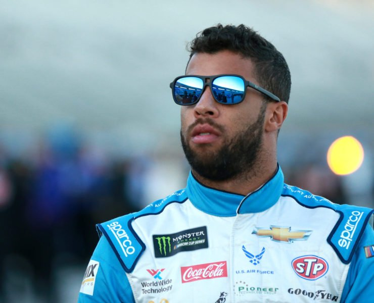 23XI Racing driver Bubba Wallace ahead of the race at Texas Motor Speedway
