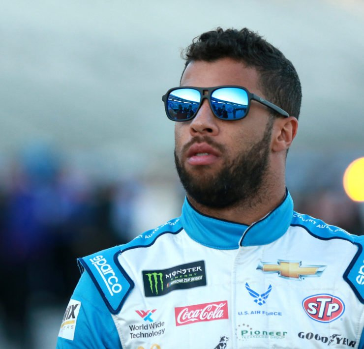 Bubba Wallace ahead of the race at Texas Motor Speedway
