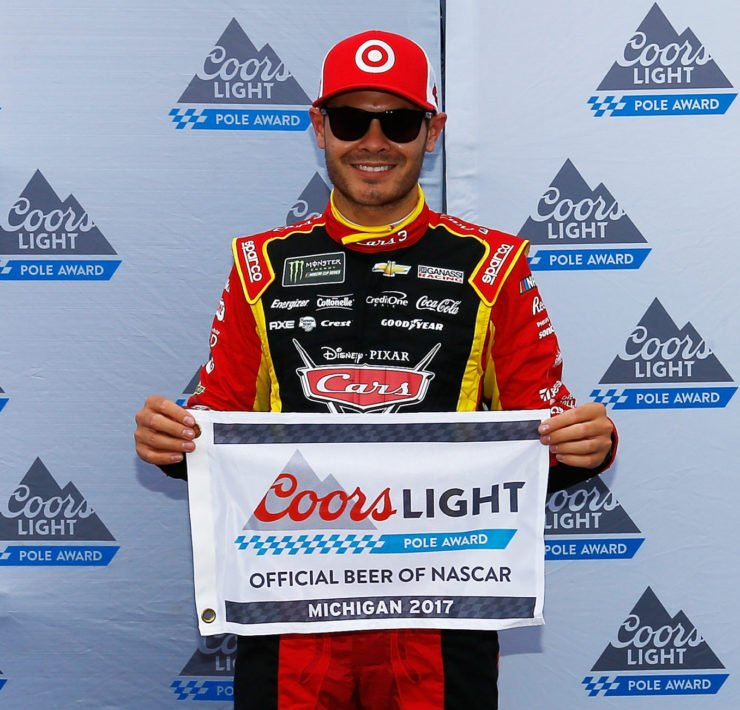 Kyle Larson following the Cup Series race in Brooklyn