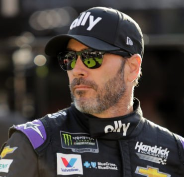 Jimmie Johnson during practice for the Monster Energy NASCAR Cup Series Food City 500 at Bristol Motor Speedway