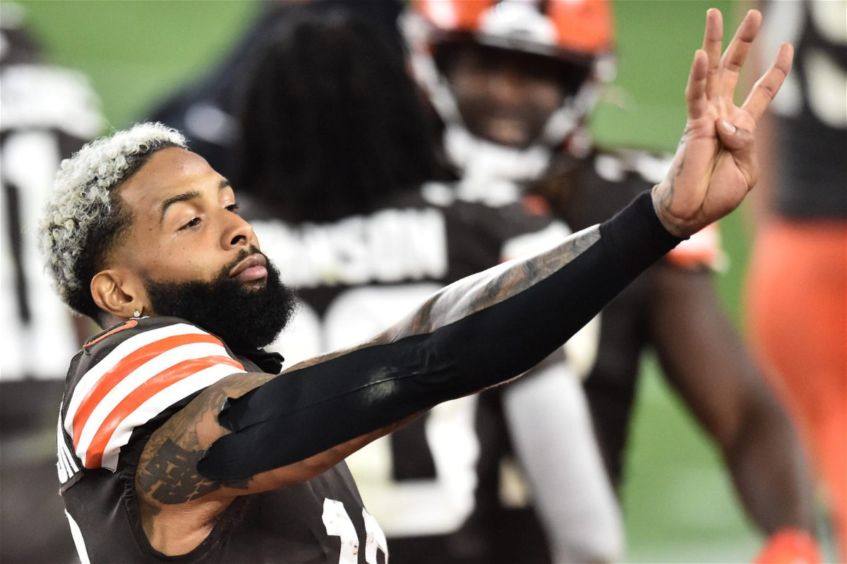 Cleveland Browns wide receiver Odell Beckham Jr. pictured against the Indianapolis Colts.