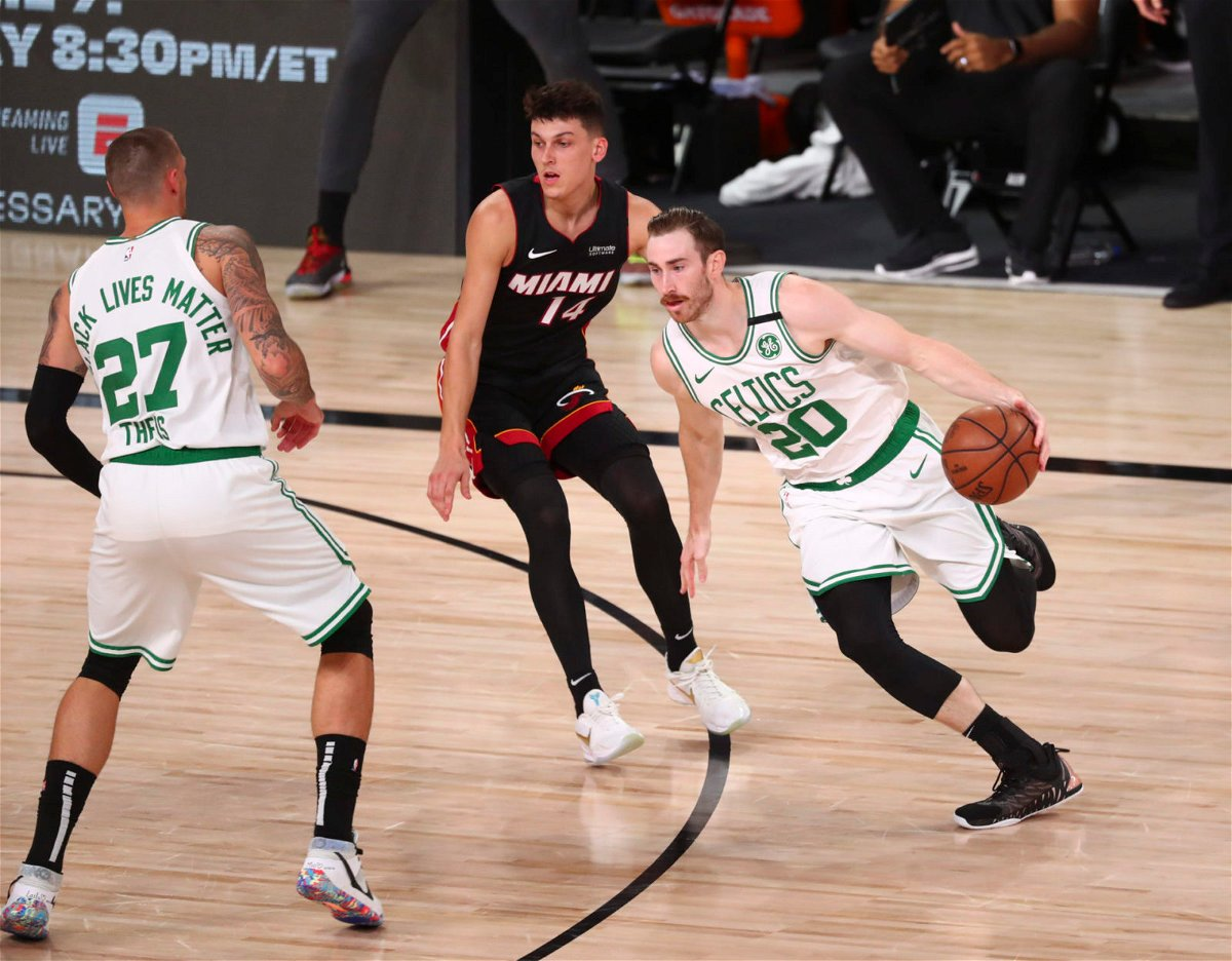 Boston Celtics forward Gordon Hayward vs Miami Heat in 2020 NBA Playoffs