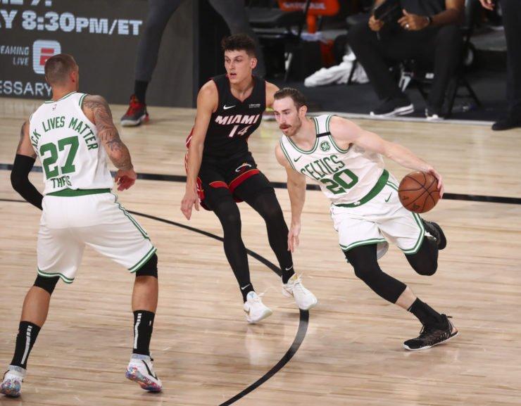 Boston Celtics forward Gordon Hayward vs Miami Heat in 2020 NBA Playoffs