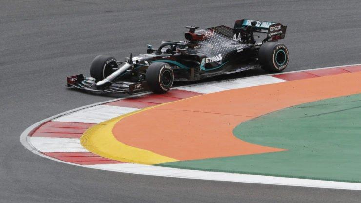 Mercedes driver Lewis Hamilton during the Portuguese GP race