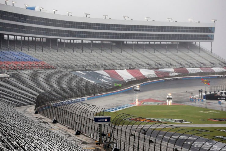 Rain and Mist Postponed the NASCAR Cup Series race at Texas Motor Speedway