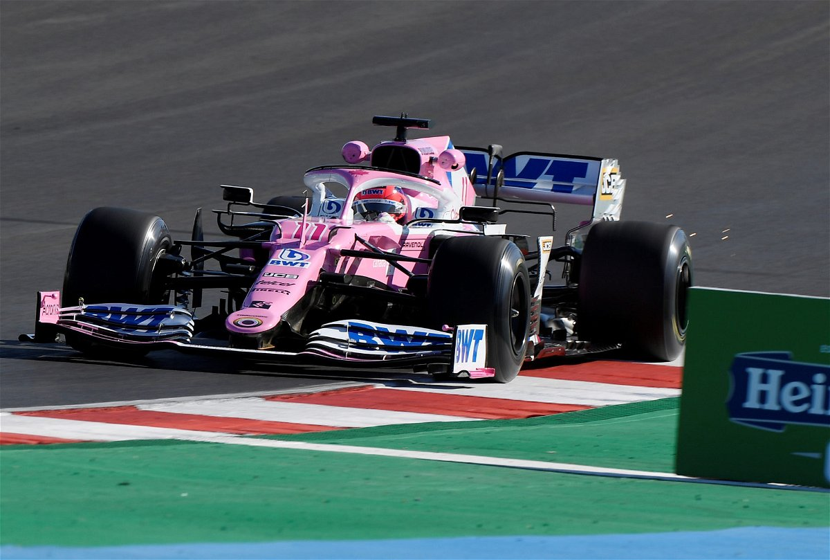 Racing Point's Sergio Perez during practice at Portuguese Grand Prix 2020