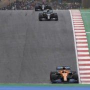 Carlos Sainz leads the Mercedes drivers in the Portuguese Grand Prix race