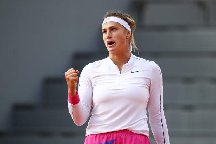 Aryna Sabalenka at the French Open 2020