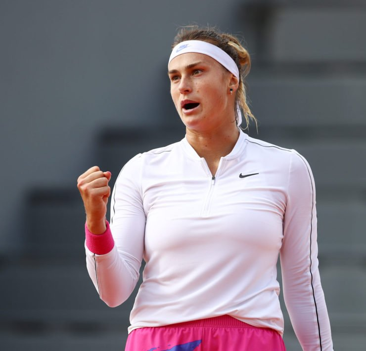 Aryna Sabalenka at the French Open 2020