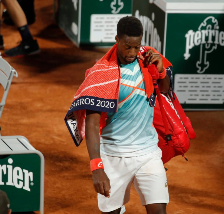 Gael Monfils at the French Open 2020