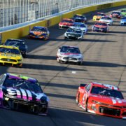 Jimmie Johnson and Bubba Wallace at Las Vegas Motor Speedway