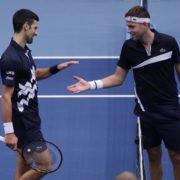 Serbians Novak Djokovic and Filip Krajinovic - Vienna Open 2020