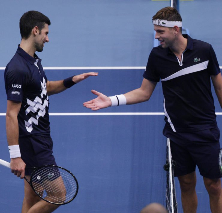 Serbians Novak Djokovic and Filip Krajinovic - Vienna Open 2020