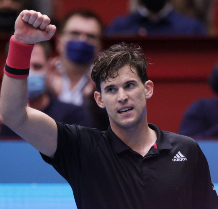 Dominic Thiem at the Vienna Open 2020