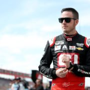 Alex Bowman ahead of a NASCAR Cup Series qualifying session