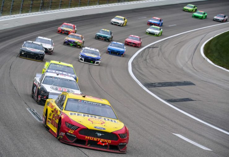 Joey Logano in action in NASCAR Cup Series