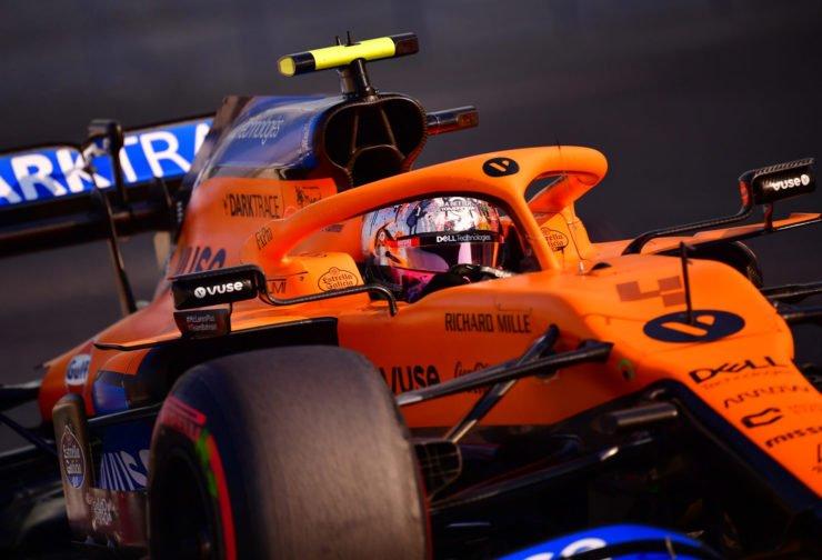 McLaren F1 pilot Lando Norris during F1 practice session in Abu Dhabi 2020