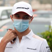 Lando Norris in the paddock ahead of the Bahrain GP