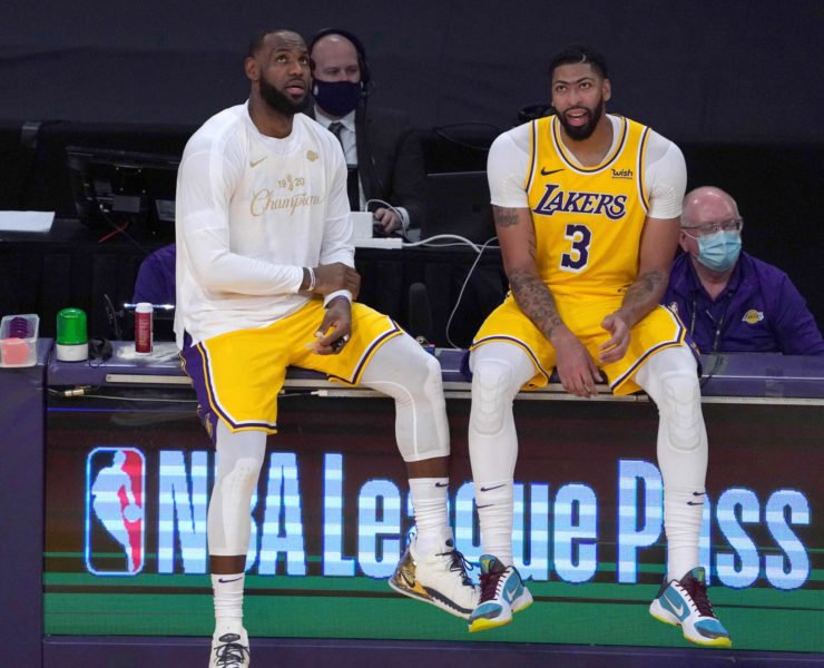 LA Lakers duo LeBron James and Anthony Davis