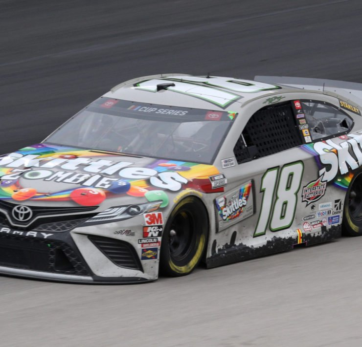 Kyle Busch during a NASCAR Cup Series race at Texas Motor Speedway