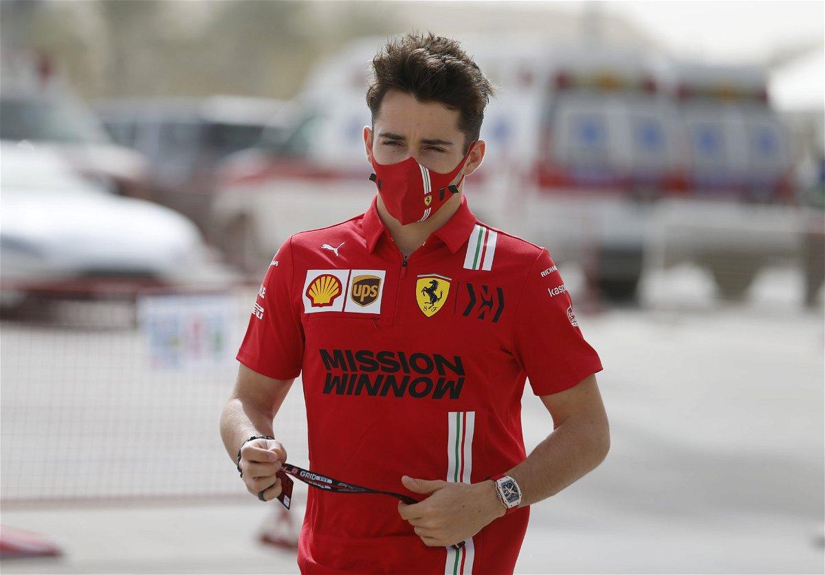 Charles Leclerc during the pre-season testing