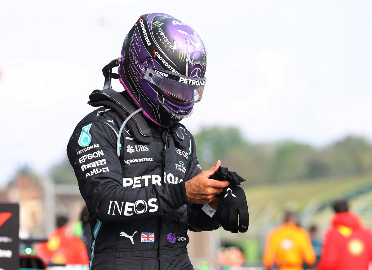 Lewis Hamilton following the Imola GP F1 race