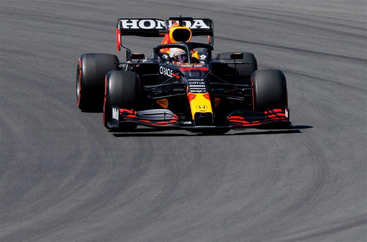 Max Verstappen at the Algarve circuit