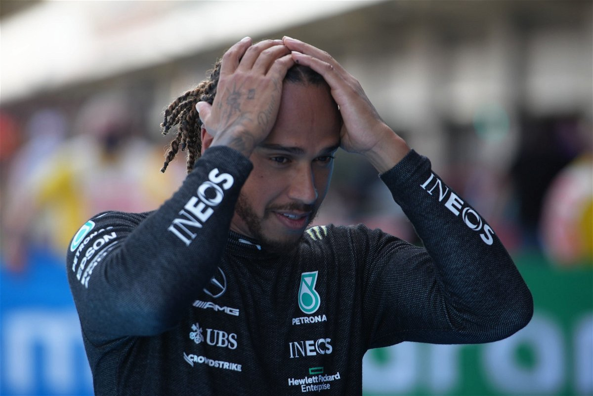 Lewis Hamilton following the qualifying session in Spain