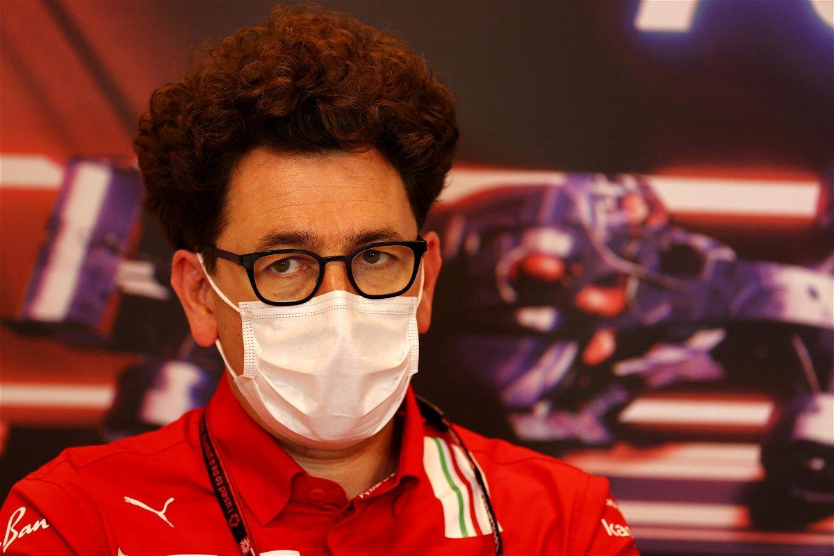 Ferrari boss Mattia Binotto at the Monaco GP presser