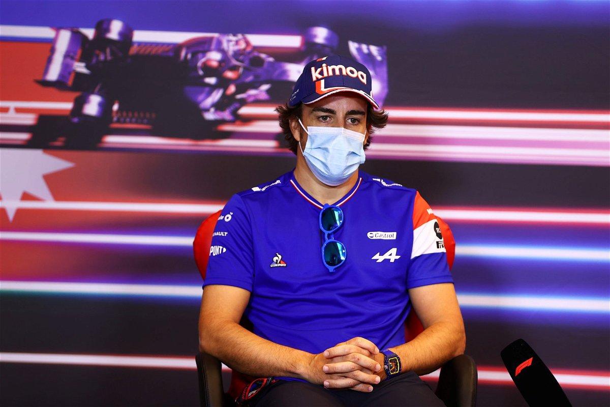 Fernando Alonso at the presser in Baku