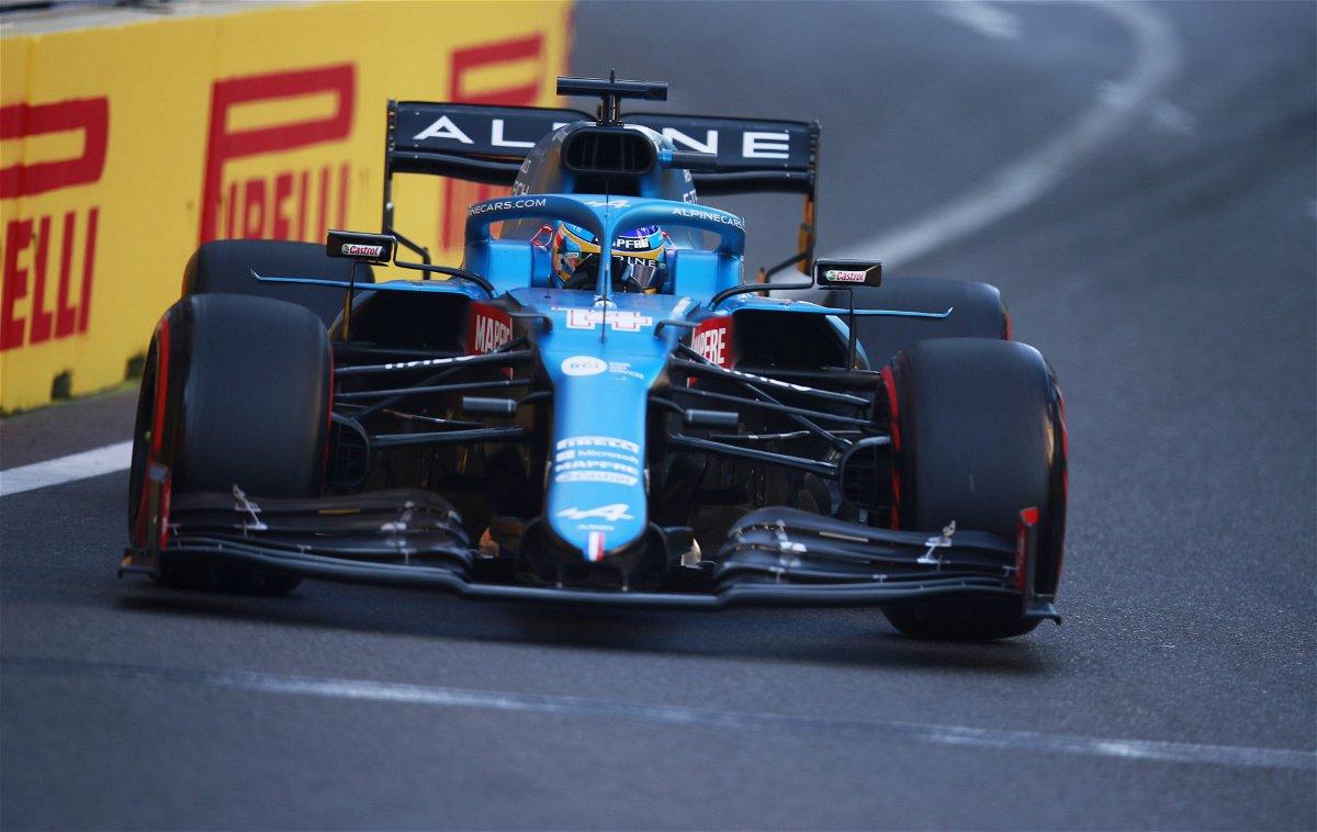 Fernando Alonso at the 2021 Azerbaijan Grand Prix