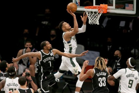 WATCH: Giannis Antetokounmpo Completes a Flawless Euro-Step Against Kevin Durant