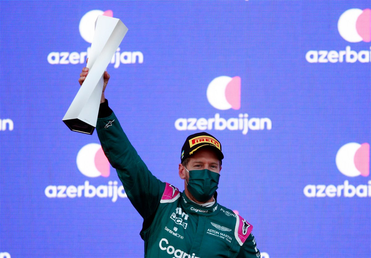 Sebastian Vettel earns a P2 finish in Baku